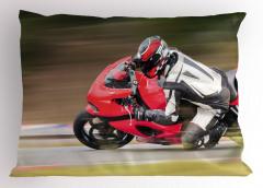 Kırmızı Motosiklet Yastık Kılıfı Spor Macera