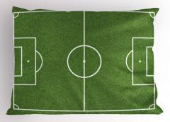 Futbol Oyun Sahası Yastık Kılıfı Yeşil Spor Şık