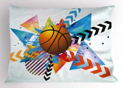 Turuncu Top Desenli Yastık Kılıfı Geometrik Şık