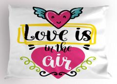 Havada Aşk Kokusu Var Yastık Kılıfı Romantik Kalp