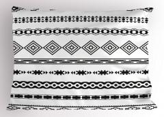 Etnik Geometrik Desen Yastık Kılıfı Siyah Beyaz Şık