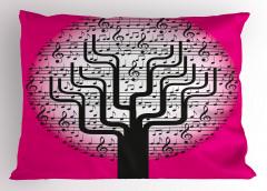 Müzik Ağacı Desenli Yastık Kılıfı Notalar Dekoratif