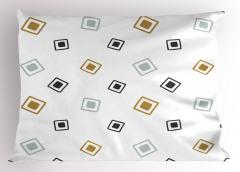 Boy Boy Kareler Yastık Kılıfı Geometrik Şık Tasarım