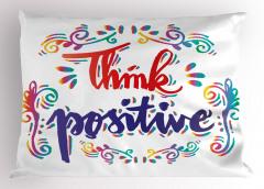 Pozitif Düşün Yastık Kılıfı İlham Verici Kırmızı Mavi