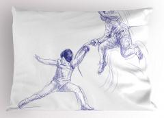 El Çizimi İnsanlar Yastık Kılıfı Sanatsal Dekoratif