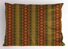 Kahve Yeşil Desenli Yastık Kılıfı Şık Tasarım
