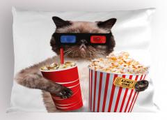 Sinemadaki Kedi Yastık Kılıfı Film Patlamış Mısır