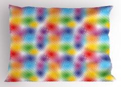Rengarenk Benekli Yastık Kılıfı Soyut Dekoratif