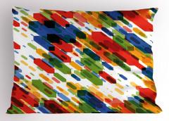 Karışık Rengarenk Yastık Kılıfı Geometrik Dekoratif