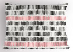 Pembe Siyah Çizgili Yastık Kılıfı Beyaz Dekoratif