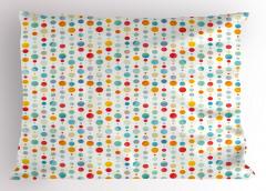Minik Daireli Desen Yastık Kılıfı Rengarenk Dekoratif