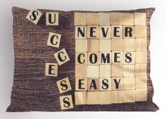 Başarı Kolay Gelmez Yastık Kılıfı İlham Verici Şık