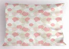 Pembe Top Çiçekli Yastık Kılıfı Beyaz Şık Tasarım