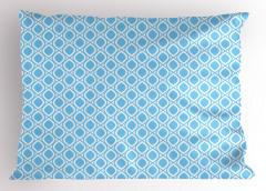Mavi Beyaz Damlalar Yastık Kılıfı Geometrik Dekoratif