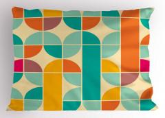 Mavi Turuncu Desenli Yastık Kılıfı Şık Tasarım