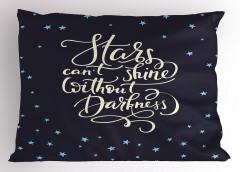 Yıldızlar ve Gökyüzü Yastık Kılıfı Lacivert Dekoratif