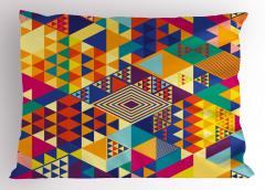 Geometrik Rengarenk Yastık Kılıfı Şık Tasarım