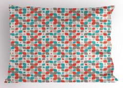 Karışık Geometrik Desen Yastık Kılıfı Şık Tasarım