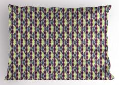 Mor Mavi Altıgenli Yastık Kılıfı Geometrik Dekoratif