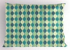 Mavi Daireli Desen Yastık Kılıfı Benekli Şık Tasarım