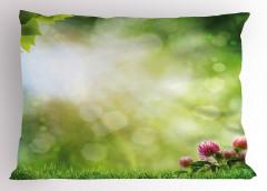 Çiçek ve Ağaçlar Yastık Kılıfı Doğada Huzur Yeşil