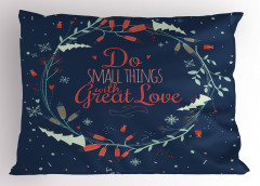 Motivasyon Aşkı Yastık Kılıfı Mavi Şık Tasarım