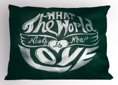 Aşk Sözleri Desenli Yastık Kılıfı İlham Verici Şık