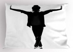 Elini Kaldıran Dansçı Yastık Kılıfı Siyah Beyaz