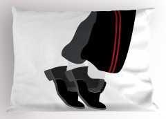 Dansçı Ayakkabıları Yastık Kılıfı Siyah Gri Beyaz Şık