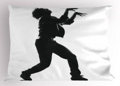 Dans Figürleri Yastık Kılıfı Siyah Beyaz Dansçı