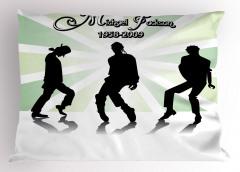Michael Jackson Dansı Yastık Kılıfı Siyah Dekoratif