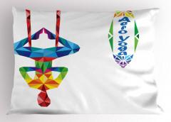 Aero Yogacı Yastık Kılıfı Soyut Rengarenk Sağlık