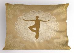 Yoga ve Mandala Yastık Kılıfı Çiçek Dekoratif