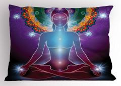 Mor Mandala ve Yoga Yastık Kılıfı Çakra Sağlık Spor