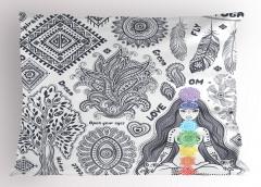 Yoga Yapan Kız Yastık Kılıfı İlham Verici Sağlık