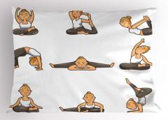 Yogacı Sarışın Kız Yastık Kılıfı Sağlıklı Yaşam Spor