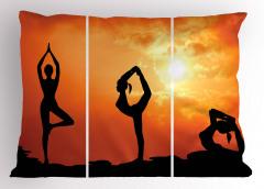 Gün Doğumu Yogası Yastık Kılıfı Turuncu Gökyüzü