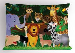 Ormandaki Hayvanlar Yastık Kılıfı Ağaç Doğa Sevimli