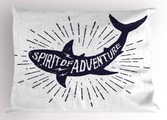Macera Ruhu Yastık Kılıfı Lacivert Köpek Balığı
