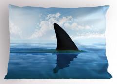 Köpek Balığı Yüzgeci Yastık Kılıfı Deniz Gökyüzü