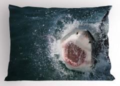 Köpük Çıkaran Balık Yastık Kılıfı Mavi Okyanus