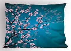 Pembe Çiçekli Ağaç Yastık Kılıfı Bahar Coşkusu