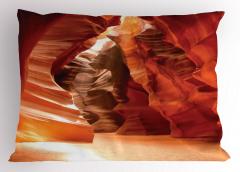 Büyük Kanyon Desenli Yastık Kılıfı Mağara Baskılı