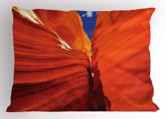Büyük Kanyon Manzaralı Yastık Kılıfı Mavi Gökyüzü