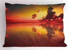 Doğada Romantik Gün Batımı Temalı Yastık Kılıfı Güneş