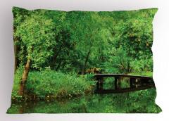 Yeşilin Huzuru Temalı Yastık Kılıfı Ağaç Desenli Doğa