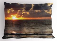 Adada Gün Doğumu Manzaralı Yastık Kılıfı Deniz Bulut