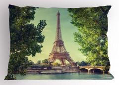 Eyfel Kulesi Manzaralı Yastık Kılıfı Paris Temalı