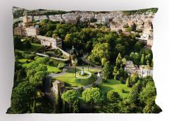Vatikan Bahçeleri Manzaralı Yastık Kılıfı Roma Temalı