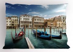 Venedik'te Gondol Gezisi Temalı Yastık Kılıfı İtalya